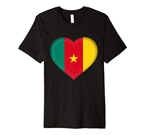 Cameroon T-shirt Flag - I Love Cameroon T-Shirt | Cameroonian Flag Heart Outfit
