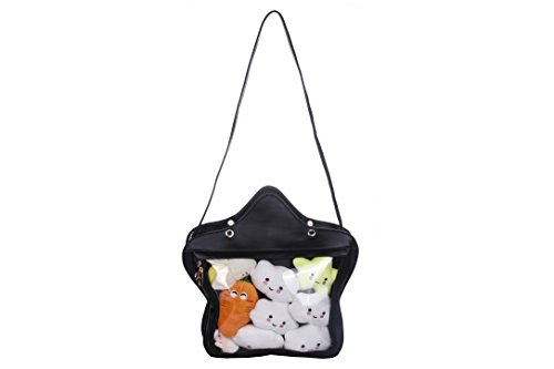 Clear Candy Leather Handbag Kawaii Purse Transparent Backpacks Star Crossbody Bags Lolita Ita Bag