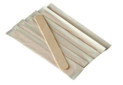 Abbassalingua in legno, imballato singolarmente, confezione da 50
