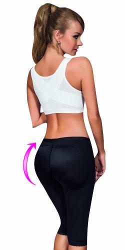 Aranza Women's Colombian Powernet Butt Lifting Ab Shaping Capri Anti Cellulite Technology Size Large