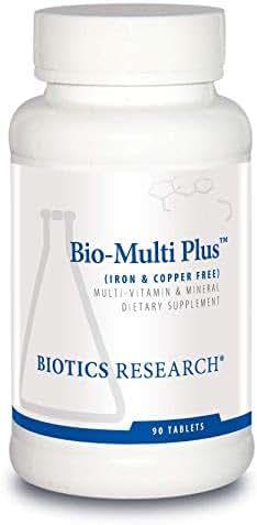 Biotics Research Bio-Multi Plus ™ (Iron & Copper Free) - Multivitamin, Chelated Minerals, Emulsified Fat-Soluble Vitamins, Iron Free, Copper Free, High antioxidants, SOD, Catalase 90ct