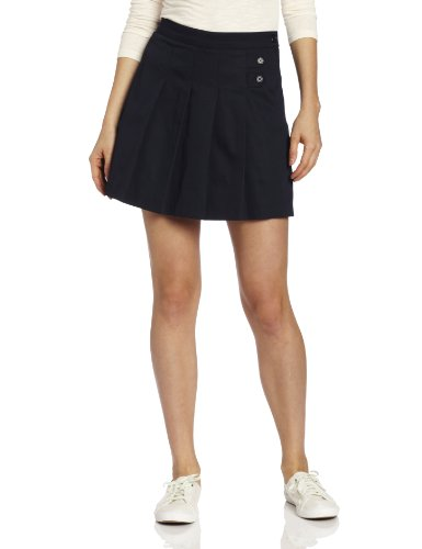 - CLASSROOM Juniors Tab Pleat Scooter Skirt, Dark Navy, 11/12