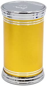 uxcell 灰皿 ゴールドトーン 自動車 ポータブル タバコ シリンダー ホルダーカップ ブルー ライト