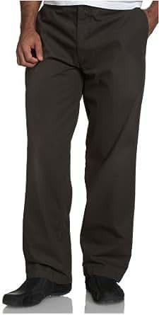Dockers Men's Iconic Flat Front  Khaki, Military Olive, 31x30