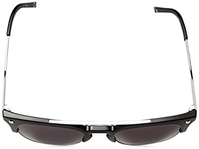 Calvin Klein Unisex Ck3199s Retro Round Sunglasses, Shiny Black, 52 mm