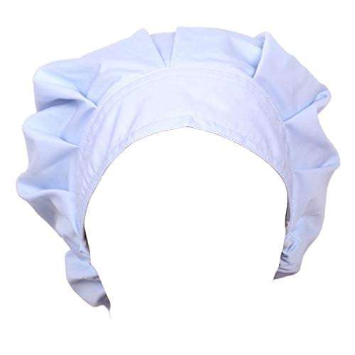 Doctor Scrub Cap Adjustable Sweatband Bouffant Cotton Hats for Women Ponytail(Light Blue)