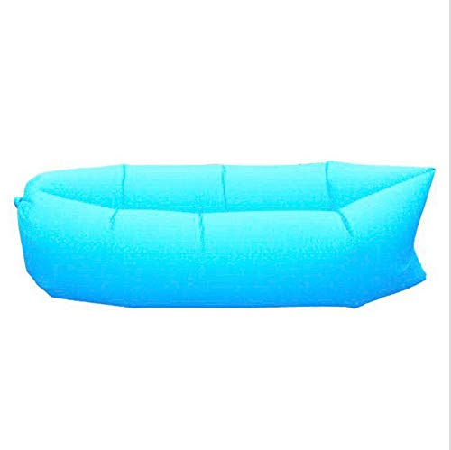 (Easyinsmile Camping Inflatable Lounger Chair Hammock-Portable,Water Proof& Anti-Air Leaking Design-Ideal Couch for Backyard Lakeside Beach Traveling Camping Picnics & Music Festivals (Blue) )