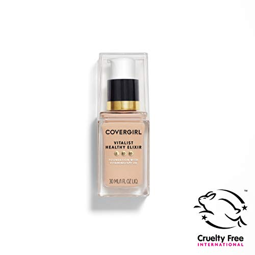 COVERGIRL Vitalist Healthy Elixir Foundation, Ivory 705, 1 Ounce (packaging may vary)