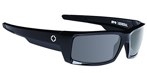 Spy Optics General Wrap Sunglasses,Black/Grey,66 - General Spy Sunglasses