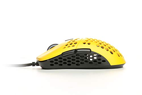 HK Gaming Mira S Ultra Lightweight Honeycomb Shell WiredRGB Gaming Mouse - Up to 12 000 cpi | 6 Buttons - 61g Only (Mira-S, Bumblebee)