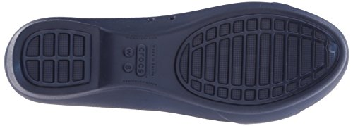 Crocs Womens Gianna Disc Flat Navy / Gold