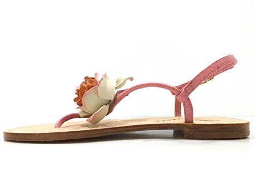 Zapatos Mujer EDDY DANIELE 37 Sandalias Rosa Cuero AV398