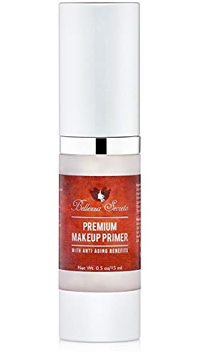 Premium Foundation Makeup Primer- aging, fine lines, wrinkles & pore minimizer primer - Enriched with Vitamin A, C & E for flawless skin- Waterproof makeup base - Made in The USA FDA Certified