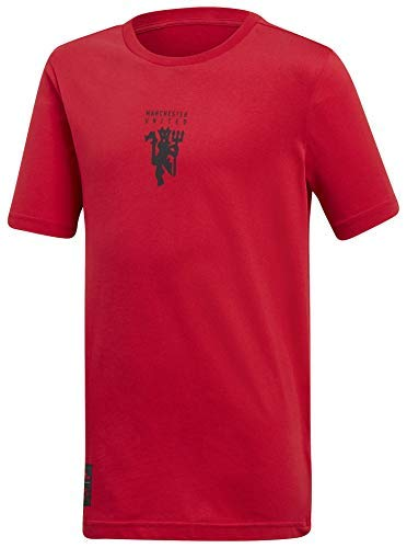 (adidas Manchester United Youth Graphic Tee, Real Red, X-Large)