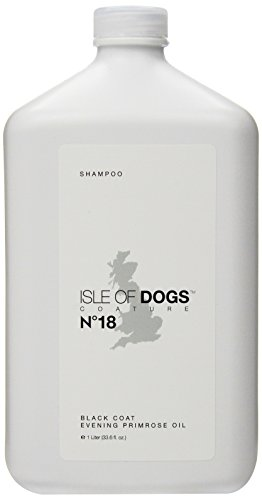 Isle of Dogs Coature No. 18 Black Coat Evening Primrose Oil Dog Shampoo, 1 Liter ()