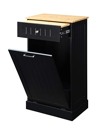 Tilt Out Trash Cabinet by Seven Oaks (Black)