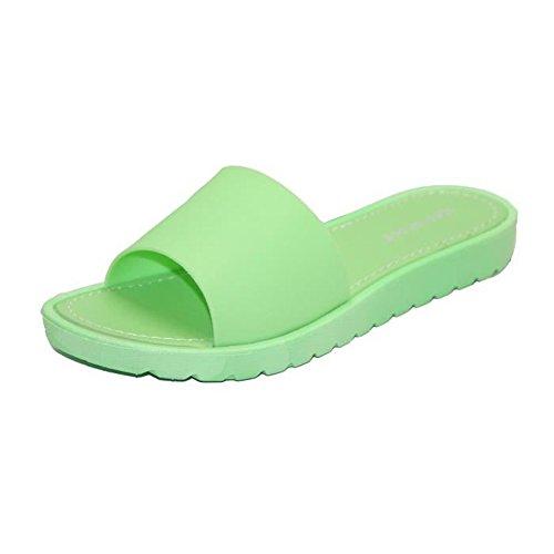STEKOST - Zuecos para mujer Verde