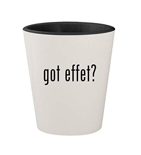 got effet? - Ceramic White Outer & Black Inner 1.5oz Shot Glass