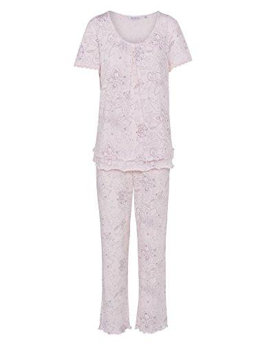 Slenderella PJ7112 Women's Pink Floral Cotton Pajama Pyjama Set