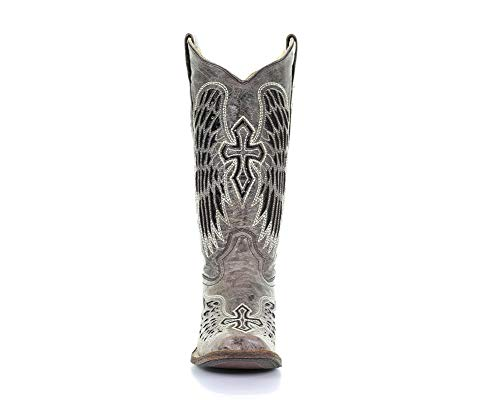 CORRAL Womens Brown - Black Wing & Cross Sequence Sq. Toe, Size: 7, Width: M (A1197-LD-M-7) from Corral Boots