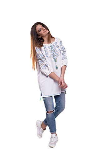Donna 3 Maniche Fashion Camicia A 4 Ukrainian wYFzv