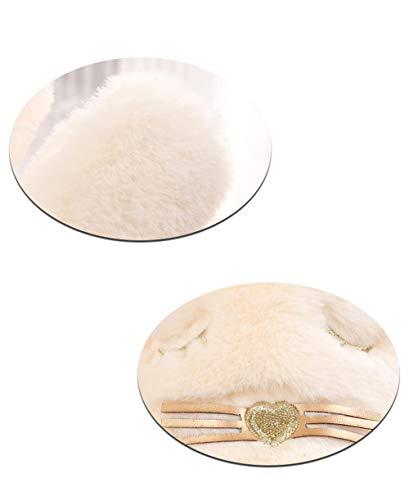 Coton Doux d'ouatine Femmes Shuanghao Confortable et d'intérieur doublé en Coton en Femmes 3 Pantoufles Pantoufles In7qtg