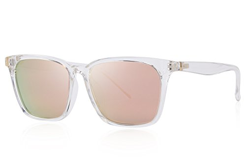 MERRY'S Men Polarized Sunglasses for Women Fashion Sun glasses UV Protection S8219 (Pink, - Brand High End Glasses