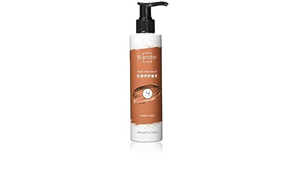 Blendor - Mascarilla colorante hidratante con pigmentos directos, 200 ml - Cobre (.4)