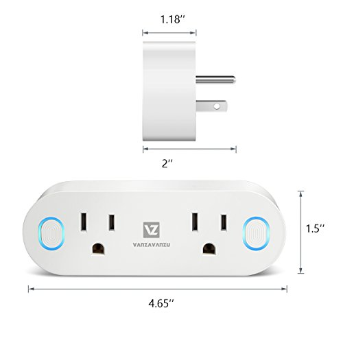 Smart Plug Wifi - VANZAVANZU 16A Smart Outlet Socket with Energy Monitor, Compatible with Amazon Alexa, Google Home and IFTTT, Dual Outlets Can Work Individually or in Group on APP (2, Oval-New) by VANZAVANZU (Image #6)