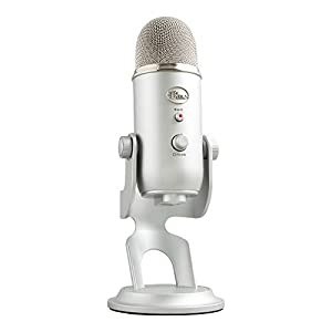 Logitech Blue Microphones Yeti USB Microphone for Recording and Streaming on PC and Mac, Game Streaming, Skype Calls, Youtube Streaming, Plug and Play, Silver