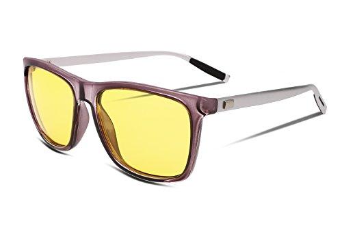 Polarized Glare Driving Grey HD FEISEDY Eyewear Vision B2293 Glasses Night 2 Mens Anti tq8t7Y