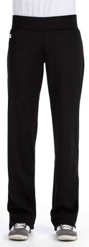 Russell Athletic Womens Tech Fleece Mid-Rise Loose Fit Pant (FS5EFX) -BLACK (Russell Athletic Wear Women)