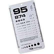 Chart Ultimate - Ultimate Pocket Eye Chart Rosenbaum/Snellen