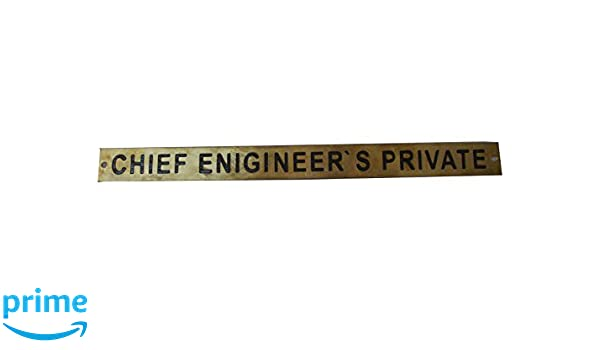 CHIEF ENGINEER`S PRIVATE 128 12 x 1 Inches Marine BRASS Door Sign