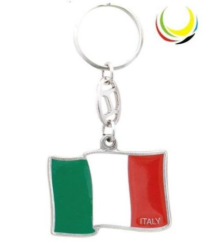(Keychain - ITALY FLAG-)