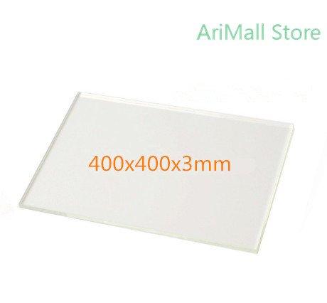 WillBest 3D Printer Platform Printing Bed 400x400x3mm Borosilicate Glass Plate Heated Bed for DIY Creality CR-10 Tarantula I3 by WillBest