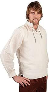 Desconocido Camisa medieval para hombre : Amazon.es ...
