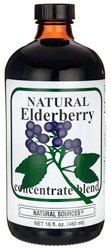 Natural Sources Elderberry Concentrate, 16 Fluid Ounce - Elderberry Concentrate