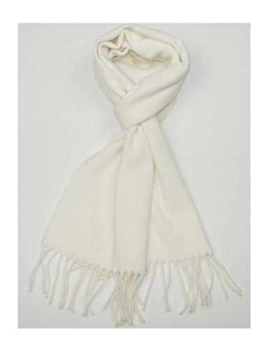 Lovarzi Off White Wool Scarf for Men and Women - Womens Wool winter scarves (White Wool Scarf)