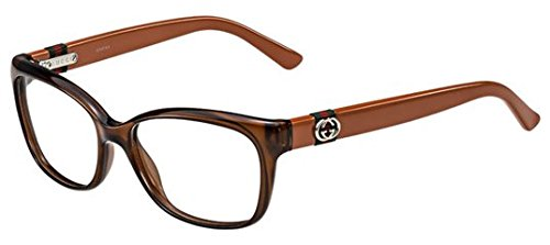 Gucci GG3683 Eyeglasses-04UH Brown Red - Gucci Brown