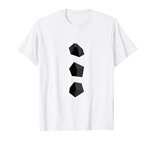 Mens Snowman Coal Buttons Costume T-Shirt Christmas Tee 2XL White