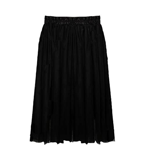 Discount eshion Women's Voile Tulle Skirt Princess Style Mid Length Bouffant Puffy Skirt hot sale