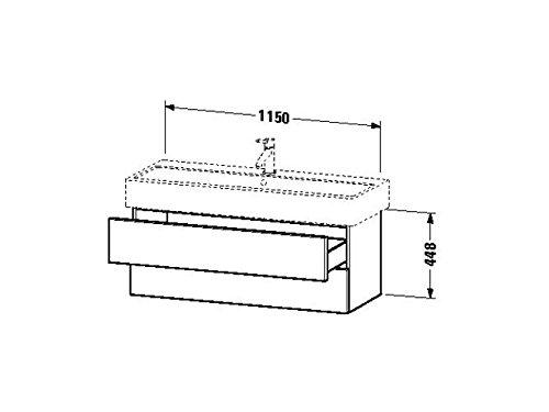 Duravit Waschtischunterschrank wandh. Delos 445x1150x448mm 2 SchKa, für 045412, weiss hochglanz, DL6