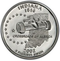 2002 S Indiana State Proof Quarter PF1 US Mint