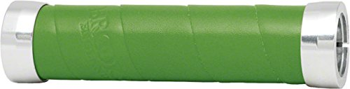 Brooks Saddles Leather Wrap Slender Grips  Apple Green