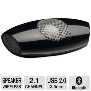 AudioSource MS200B Small 2.1 Bluetooth Mobile Speaker (Black)