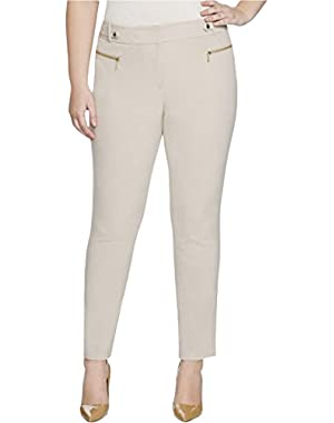 Calvin Klein Womens Signature Straight Leg Dress Pants