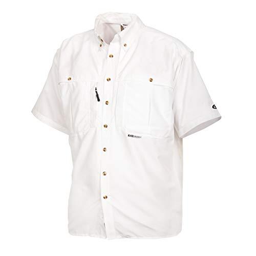 Drake Waterfowl Drake Casual Shirt White Short Sleeve Large DW260WHIL