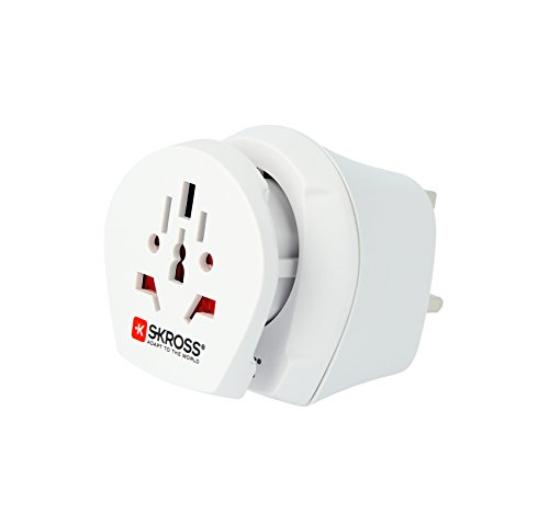 Skross World to UK Mains Charger Adapter Kit - White