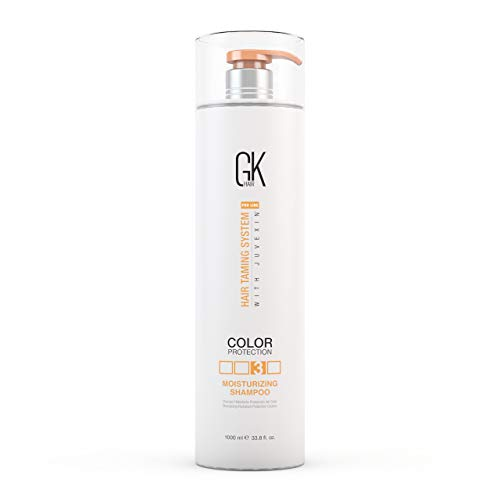 (Global Keratin GKhair Moisturizing Shampoo Color Protection | Organic Oil Extracts - Sulfate, Paraben Free Shampoo for Women, Men - All Hair Types (1000ml/ 33.8)